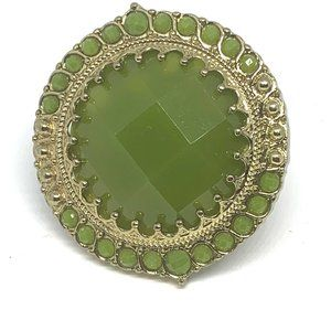 Large Lime Green Ring